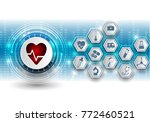 medical technology background... | Shutterstock .eps vector #772460521
