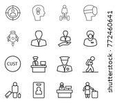 thin line icon set   target... | Shutterstock .eps vector #772460641