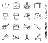 thin line icon set   basket ... | Shutterstock .eps vector #772460719