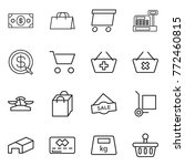 thin line icon set   money ... | Shutterstock .eps vector #772460815