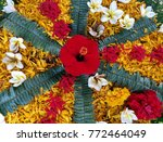 colorful flower decorate ... | Shutterstock . vector #772464049