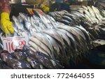 milkfish at the market photo | Shutterstock . vector #772464055