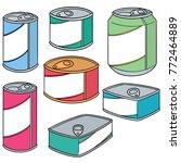 vector set of can | Shutterstock .eps vector #772464889