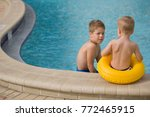 kid boy and cute toddler boy... | Shutterstock . vector #772465915