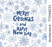 merry christmas and happy new... | Shutterstock .eps vector #772468231