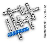 webinar structure crossword - stock photo
