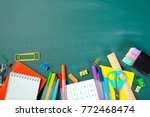 school and office supplies on...   Shutterstock . vector #772468474