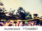 vintage tone blur image of... | Shutterstock . vector #772468807