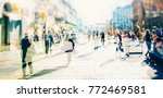 crowd of anonymous people... | Shutterstock . vector #772469581