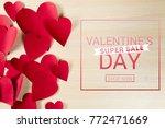 valentine's day background | Shutterstock . vector #772471669