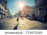 crowd of anonymous people... | Shutterstock . vector #772472335