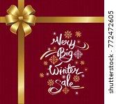 very big winter sale... | Shutterstock .eps vector #772472605