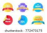 set of special offer and best... | Shutterstock .eps vector #772473175