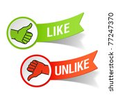 thumb up and down gestures  ... | Shutterstock .eps vector #77247370