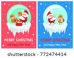 merry christmas and happy new... | Shutterstock .eps vector #772474414