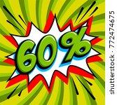 60  sixty percent off sale... | Shutterstock .eps vector #772474675