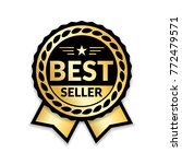 ribbon award best seller. gold... | Shutterstock .eps vector #772479571