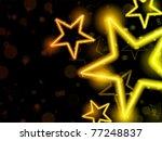 vector   glowing neon stars...   Shutterstock .eps vector #77248837