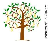 money tree bitcoin. digital... | Shutterstock .eps vector #772489729