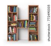 letter h. alphabet in the form... | Shutterstock . vector #772490335