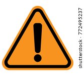 exclamation point sign in... | Shutterstock .eps vector #772495237