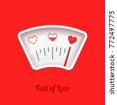 full of love meter  valentine's ... | Shutterstock .eps vector #772497775