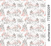 seamless christmas pattern with ... | Shutterstock .eps vector #772502209