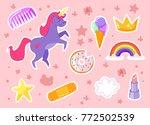 vector cartoon style set of... | Shutterstock .eps vector #772502539