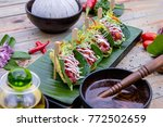 the art of thai healthy dish  ... | Shutterstock . vector #772502659