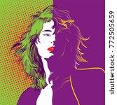 beautiful female character.... | Shutterstock .eps vector #772505659