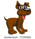 illustration merry puppy with... | Shutterstock .eps vector #77250583