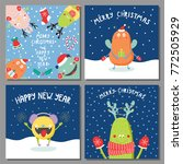 set of hand drawn christmas... | Shutterstock .eps vector #772505929