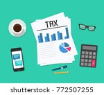 tax payment. government  state... | Shutterstock .eps vector #772507255