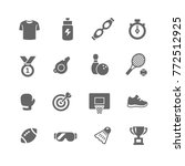 fitness and sport vector icons... | Shutterstock .eps vector #772512925