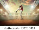 baseball players in dynamic... | Shutterstock . vector #772515331