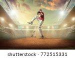baseball players in dynamic...   Shutterstock . vector #772515331