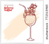 sketched card with tasty fresh...   Shutterstock .eps vector #772515985