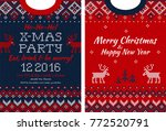 ugly sweater merry christmas... | Shutterstock .eps vector #772520791