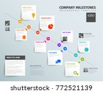 vector infographic time report... | Shutterstock .eps vector #772521139