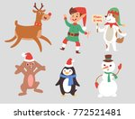 christmas vector characters... | Shutterstock .eps vector #772521481