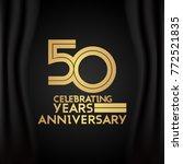 50 years anniversary logotype...   Shutterstock .eps vector #772521835