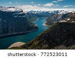amazing view from the ... | Shutterstock . vector #772523011