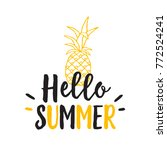 hello summer lettering with... | Shutterstock .eps vector #772524241