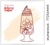 sketched card with tasty fresh...   Shutterstock .eps vector #772524445