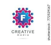 letter f  creative media... | Shutterstock .eps vector #772529167