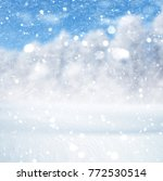 winter background  falling snow ... | Shutterstock . vector #772530514
