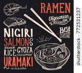 ramen menu for restaurant and...   Shutterstock .eps vector #772531237