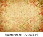 paper background with ornament | Shutterstock . vector #77253154