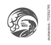 surfing logo. ride the wave.... | Shutterstock .eps vector #772531795