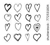 vector black and white hand... | Shutterstock .eps vector #772531834
